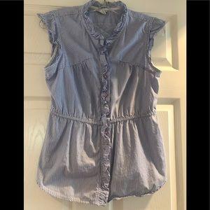 Sleeveless blouse from Anthropologie!.